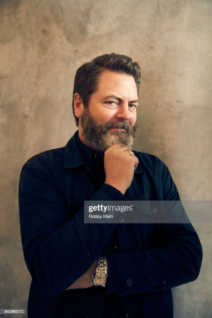 Actor Nick Offerman of 'Infinity Baby' poses for a portrait at The Wrap and Getty Images SxSW Portrait Studio on March 12, 2017 in Austin, Texas.