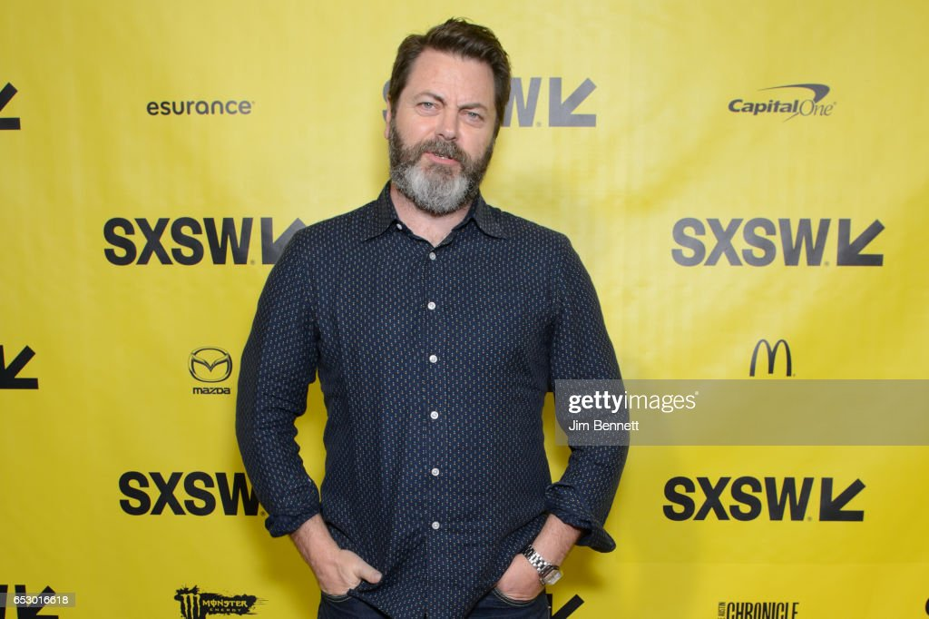 Actor Nick Offerman walks the red carpet during the SxSW Film premier of The Hero at the ZACH Theater on March 10, 2017 in Austin, Texas.