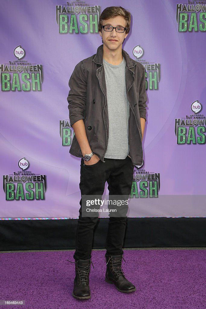 Actor Nick Purcha arrives at Hub Network's 1st annual Halloween bash at Barker Hangar on October 20, 2013 in Santa Monica, California.
