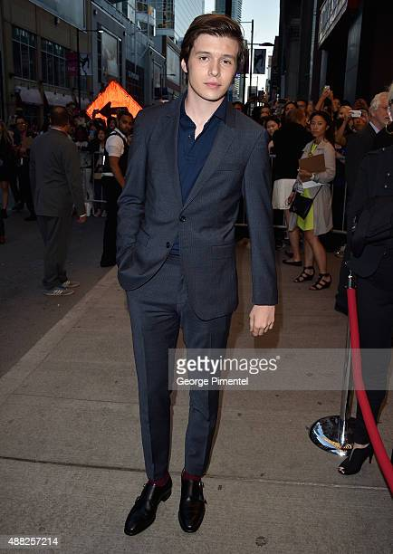 Actor Nick Robinson attends the 'Being Charlie' photo call during the 2015 Toronto International Film Festival at Winter Garden Theatre on September...
