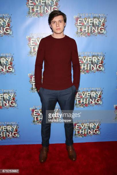 Actor Nick Robinson attends the 'Everything Everything' New York Screening at The Metrograph on April 30 2017 in New York City