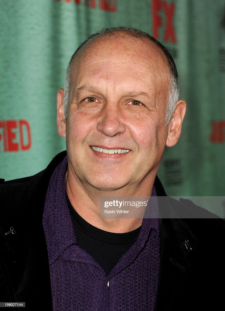 Actor Nick Searcy arrives at the premiere of FX's 'Justified' Season 4 at Paramount Studios on January 5, 2013 in Los Angeles, California.