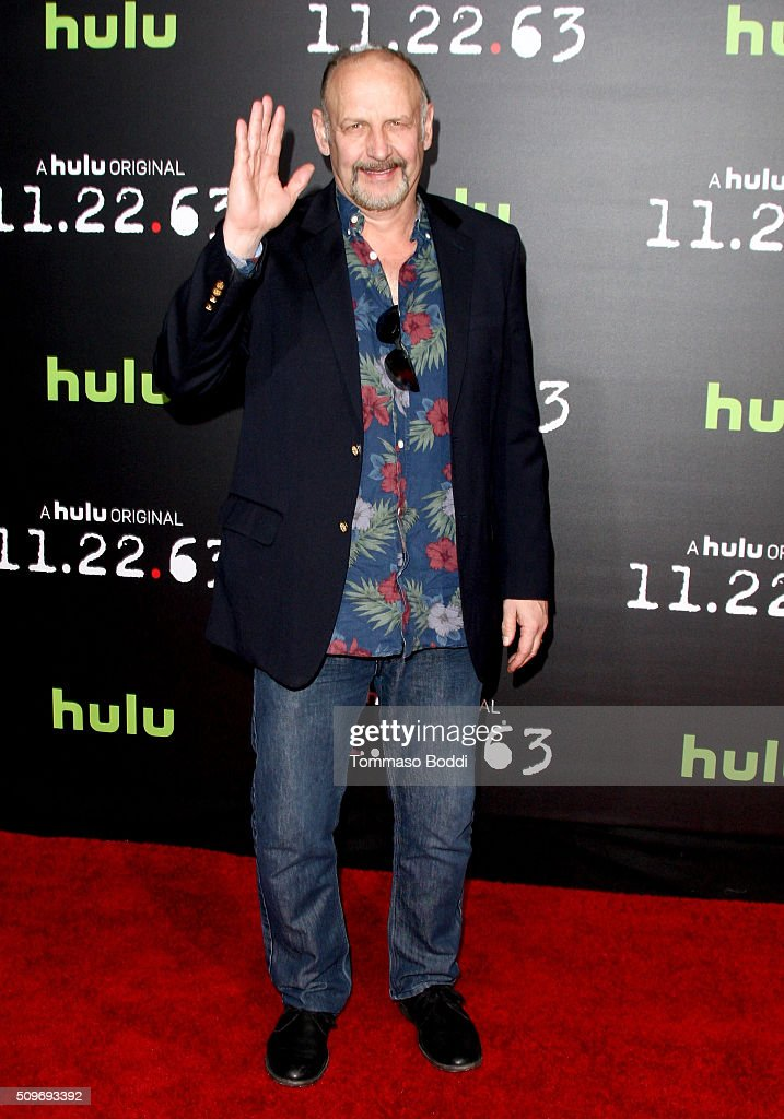 Actor <a gi-track='captionPersonalityLinkClicked' href=/galleries/search?phrase=Nick+Searcy&family=editorial&specificpeople=2162500 ng-click='$event.stopPropagation()'>Nick Searcy</a> attends the Hulu Original '11.22.63' premiere at the Regency Bruin Theatre on February 11, 2016 in Los Angeles, California.