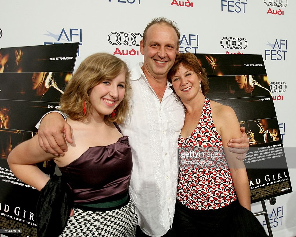 Actor Nick Searcy with wife actress Leslie Riley and daughter Chloe arrive at the World Premiere of 'The Dead Girl' during the AFI FEST 2006...