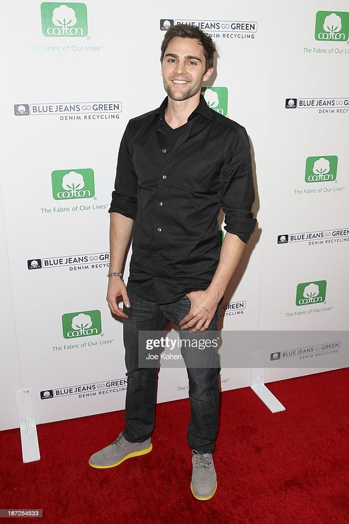 Actor Nick Uhas attends Blue Jeans go green celebrates 1 Million pieces of denim collected for recycling hosted by Miles Teller at SkyBar at the Mondrian Los Angeles on November 6, 2013 in West Hollywood, California.