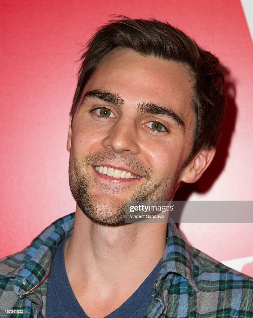 Actor Nick Uhas attends WE tv's premiere party for 'The LYLAS' at Warwick on November 7, 2013 in Hollywood, California.