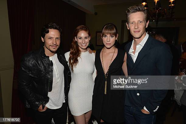 Actor Nick Wechsler actress Jessica Blair actress Christa B Allen and actor Gabriel Mann attend the NYLON September Issue Party hosted by NYLON ASOS...