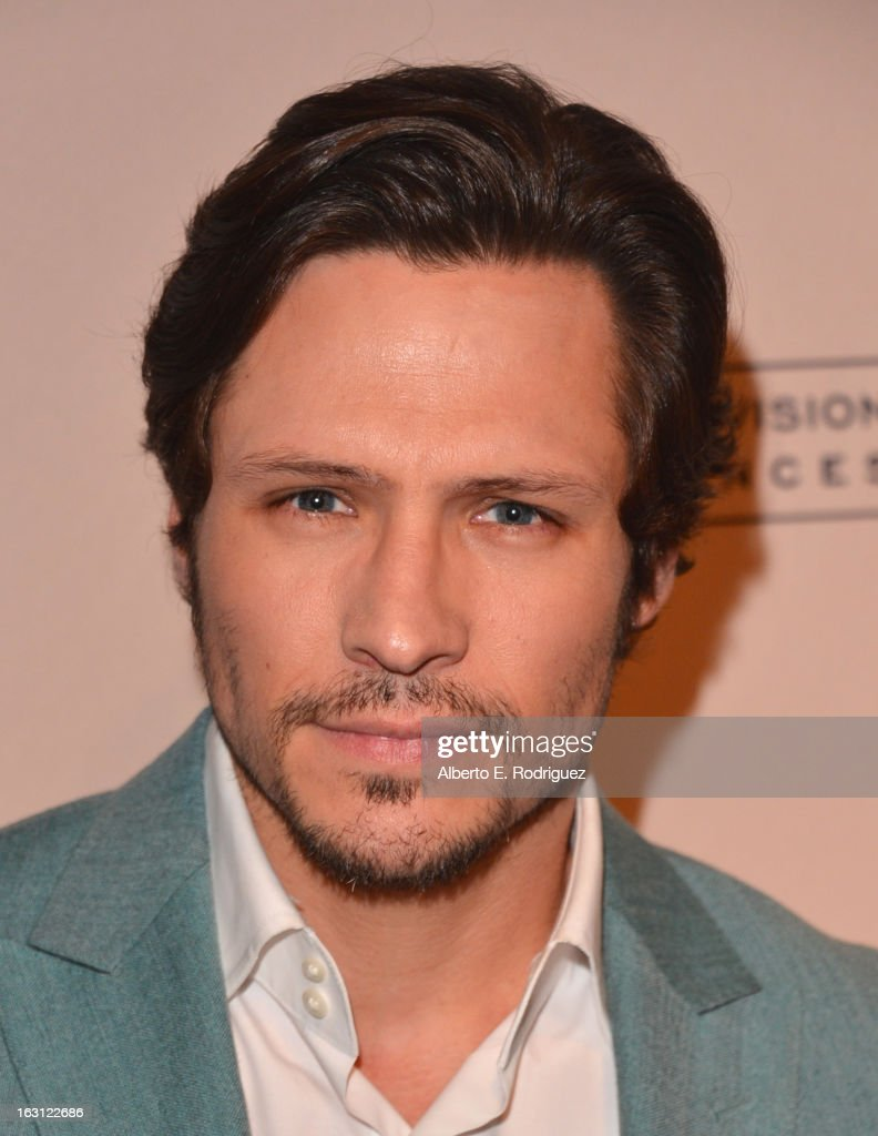 Actor <a gi-track='captionPersonalityLinkClicked' href=/galleries/search?phrase=Nick+Wechsler+-+Actor&family=editorial&specificpeople=2210698 ng-click='$event.stopPropagation()'>Nick Wechsler</a> arrives to the Academy of Television Arts and Sciences' An Evening with 'Revenge' at Leonard H. Goldenson Theatre on March 4, 2013 in North Hollywood, California.