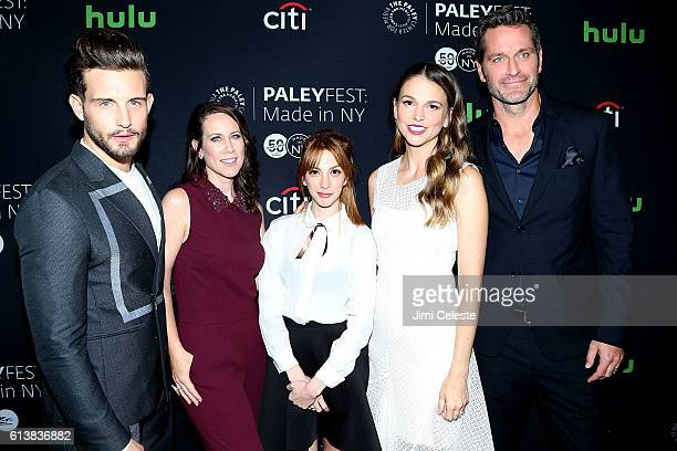Actor Nico Tortorella Actresses Miriam Shor Molly Bernard Sutton Foster and Actor Peter Hermann attends PaleyFest New York 2016 'Younger' at The...