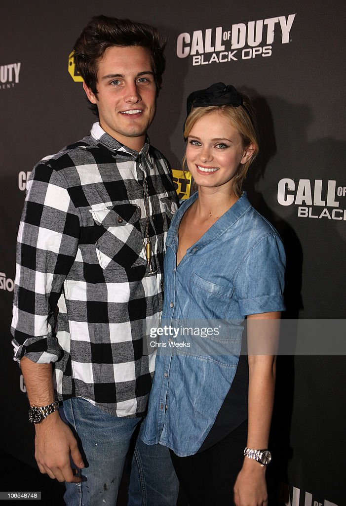 Actor <a gi-track='captionPersonalityLinkClicked' href=/galleries/search?phrase=Nico+Tortorella&family=editorial&specificpeople=5864114 ng-click='$event.stopPropagation()'>Nico Tortorella</a> and Actress <a gi-track='captionPersonalityLinkClicked' href=/galleries/search?phrase=Sara+Paxton&family=editorial&specificpeople=171853 ng-click='$event.stopPropagation()'>Sara Paxton</a> arrive at the Call Of Duty: Black Ops Launch Party held at Barker Hangar on November 4, 2010 in Santa Monica, California.