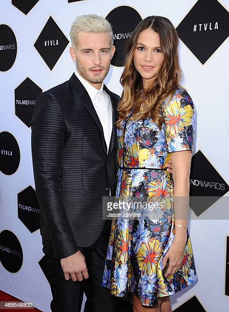 Actor Nico Tortorella and actress Sutton Foster attend the 2015 TV LAND Awards at Saban Theatre on April 11 2015 in Beverly Hills California