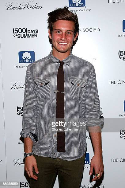 Actor Nico Tortorella attends a screening of '500 Days of Summer' hosted by the Cinema Society with Brooks Brothers Cotton at the Tribeca Grand...