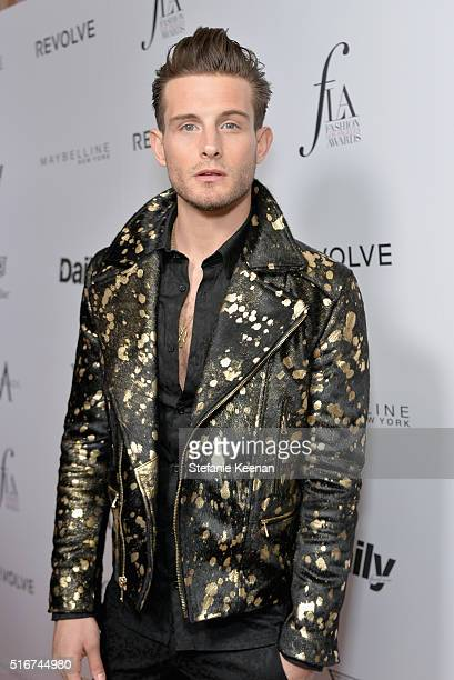 Actor Nico Tortorella attends The Daily Front Row 'Fashion Los Angeles Awards' 2016 at Sunset Tower Hotel on March 20 2016 in West Hollywood...