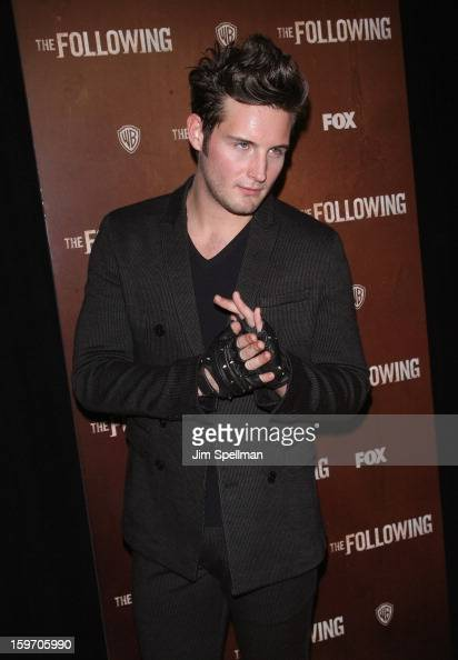Actor Nico Tortorella attends 'The Following' New York Premiere at New York Public Library Astor Hall on January 18 2013 in New York City