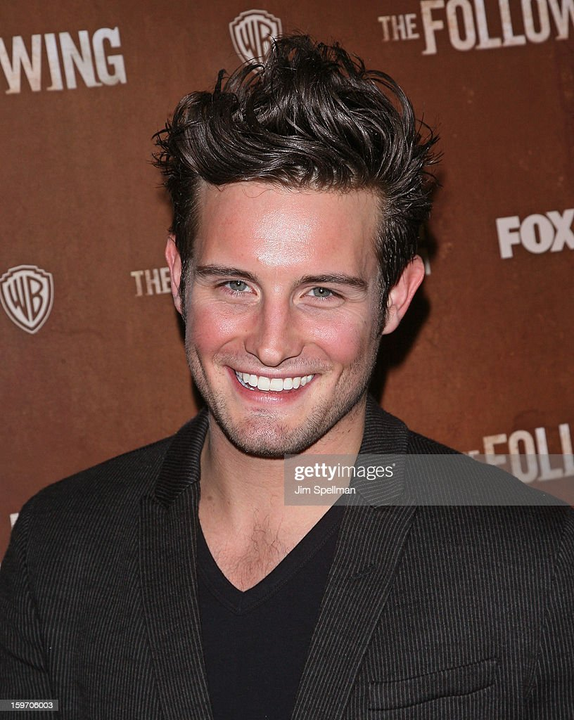 Actor <a gi-track='captionPersonalityLinkClicked' href=/galleries/search?phrase=Nico+Tortorella&family=editorial&specificpeople=5864114 ng-click='$event.stopPropagation()'>Nico Tortorella</a> attends 'The Following' New York Premiere at New York Public Library - Astor Hall on January 18, 2013 in New York City.