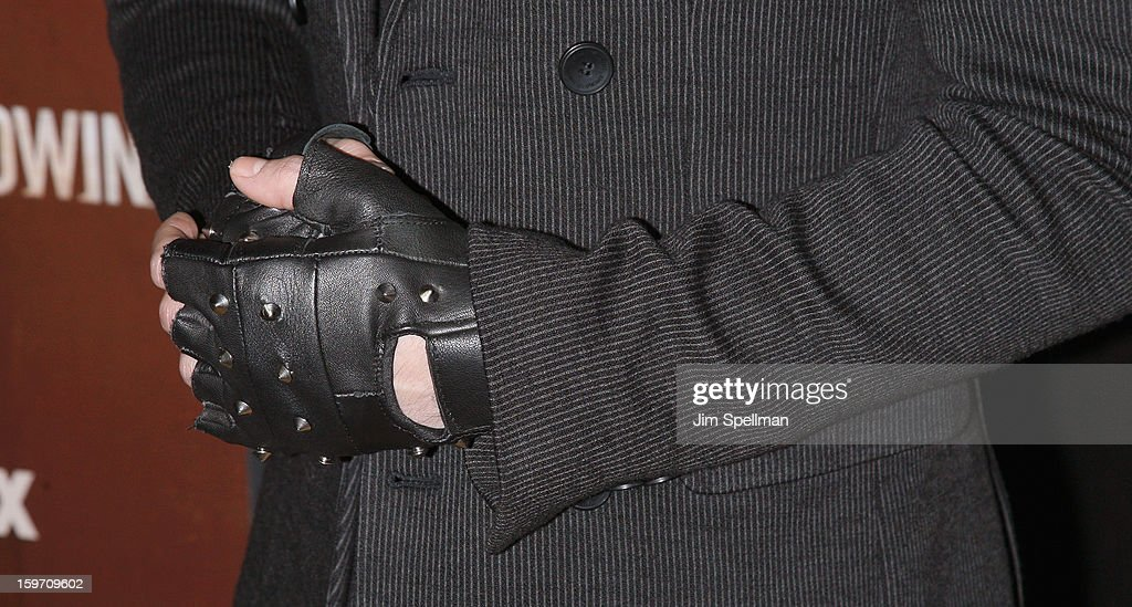 Actor Nico Tortorella (hand detail) attends 'The Following' New York Premiere at New York Public Library - Astor Hall on January 18, 2013 in New York City.
