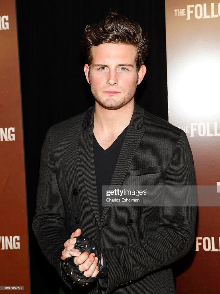 Actor Nico Tortorella attends 'The Following' premiere at The New York Public Library on January 18, 2013 in New York City.