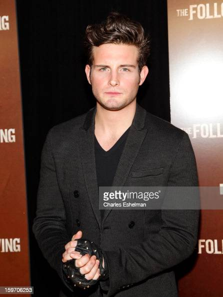 Actor Nico Tortorella attends 'The Following' premiere at The New York Public Library on January 18 2013 in New York City