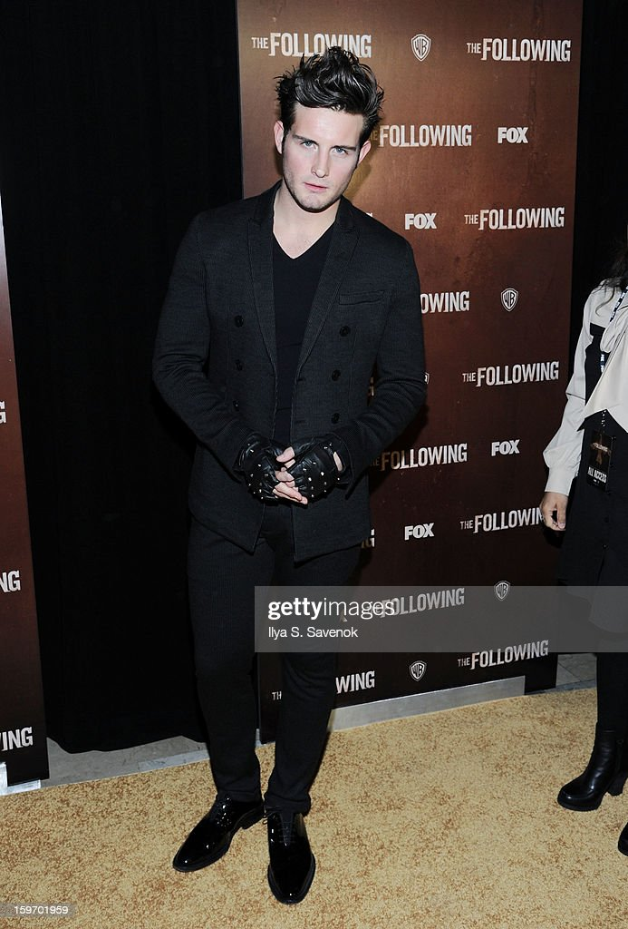 Actor <a gi-track='captionPersonalityLinkClicked' href=/galleries/search?phrase=Nico+Tortorella&family=editorial&specificpeople=5864114 ng-click='$event.stopPropagation()'>Nico Tortorella</a> attends 'The Following' World Premiere at The New York Public Library on January 18, 2013 in New York City.