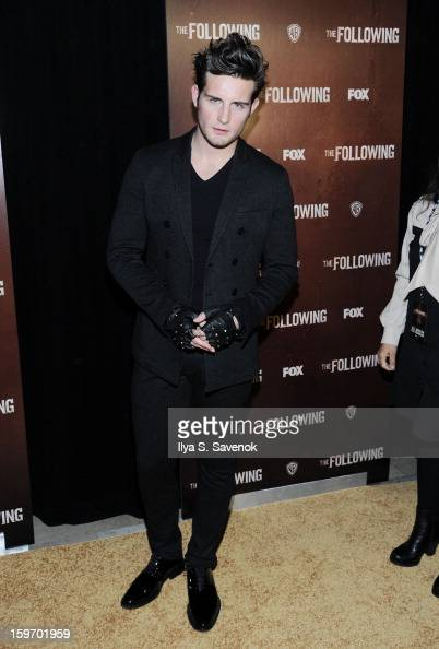 Actor Nico Tortorella attends 'The Following' World Premiere at The New York Public Library on January 18 2013 in New York City