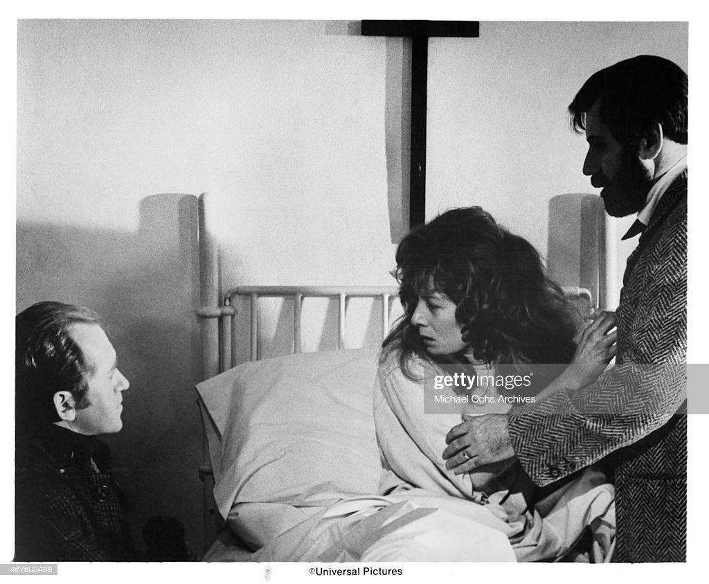Actor Nicol Williamson actress Vanessa Redgrave and actor Alan Arkin on set of the movie 'The SevenPerCent Solution' circa 1976