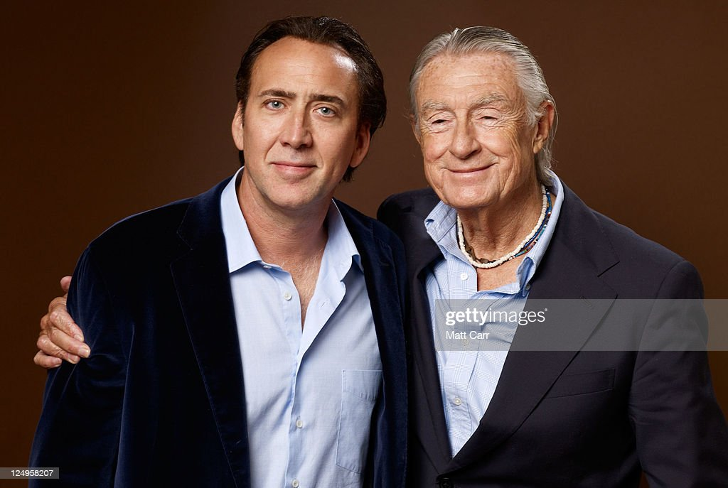Actor Nicolas Cage and Director Joel Schumacher of 'Trespass' pose during the 2011 Toronto International Film Festival at Guess Portrait Studio on...