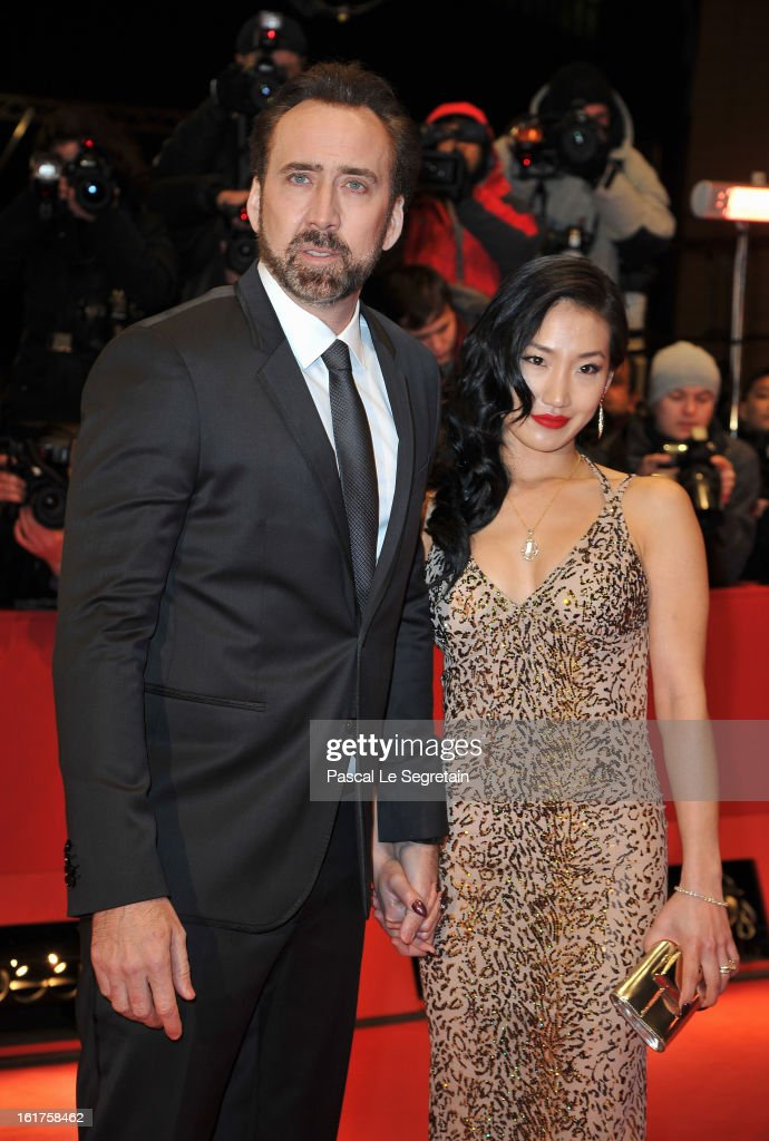 Actor Nicolas Cage and wife Alice Kim attend 'The Croods' Premiere during the 63rd Berlinale International Film Festival at Berlinale Palast on February 15, 2013 in Berlin, Germany.