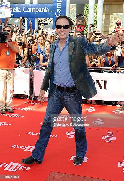 Actor Nicolas Cage attends 2012 Giffoni Film Festival Red Carpet on July 18 2012 in Giffoni Valle Piana Italy