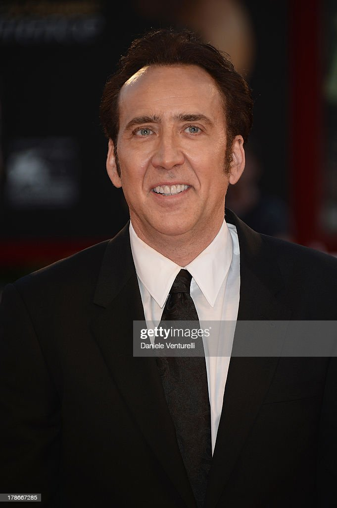 Actor <a gi-track='captionPersonalityLinkClicked' href=/galleries/search?phrase=Nicolas+Cage&family=editorial&specificpeople=196531 ng-click='$event.stopPropagation()'>Nicolas Cage</a> attends 'Joe' Premiere during The 70th Venice International Film Festival at Sala Grande on August 30, 2013 in Venice, Italy.