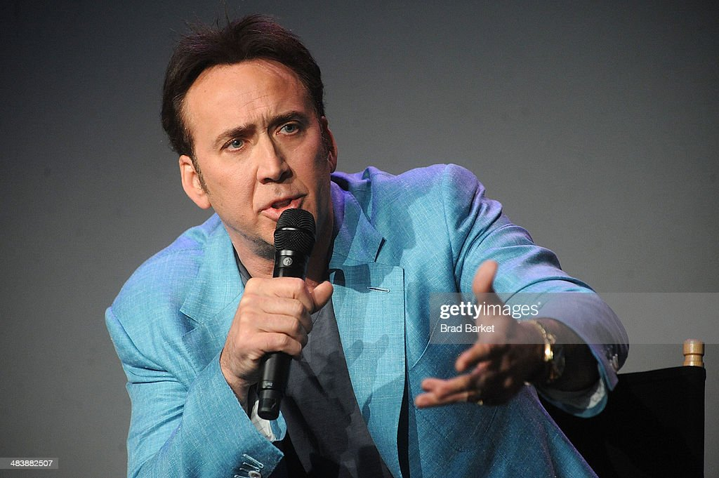 Actor Nicolas Cage attends 'Meet The Filmmakers' at Apple Store Soho on April 10, 2014 in New York City.