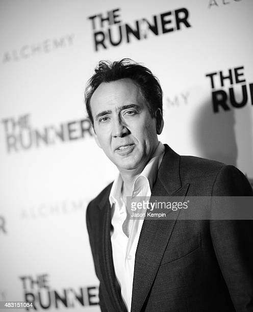Actor Nicolas Cage attends Paper Street Films' Screening Of 'The Runner' at TCL Chinese 6 Theatres on August 5 2015 in Hollywood California