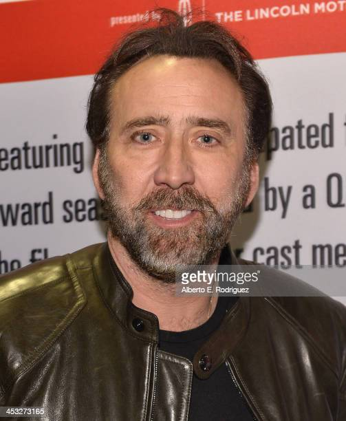 Actor Nicolas Cage attends the 2013 Variety Screening Series of 'The Croods' at ArcLight Cinemas on December 2 2013 in Hollywood California