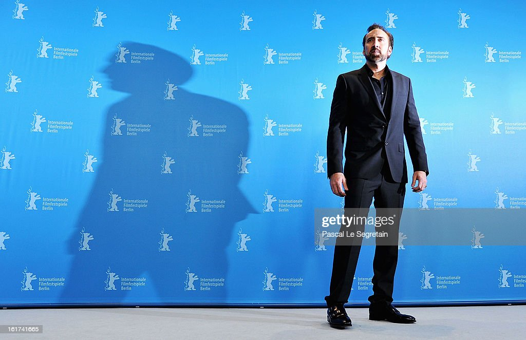 Actor <a gi-track='captionPersonalityLinkClicked' href=/galleries/search?phrase=Nicolas+Cage&family=editorial&specificpeople=196531 ng-click='$event.stopPropagation()'>Nicolas Cage</a> attends 'The Croods' Photocall during the 63rd Berlinale International Film Festival at the Grand Hyatt Hotel on February 15, 2013 in Berlin, Germany.