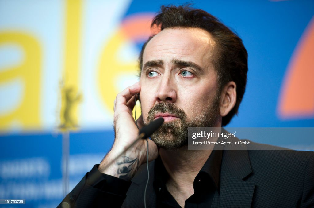 Actor Nicolas Cage attends 'The Croods' Press Conference during the 63rd Berlinale International Film Festival on February 15 2013 in Berlin Germany