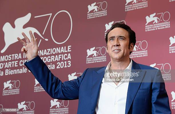 Actor Nicolas Cage attends the 'Joe' Photocall during The 70th Venice International Film Festival at Palazzo Del Casino on August 30 2013 in Venice...