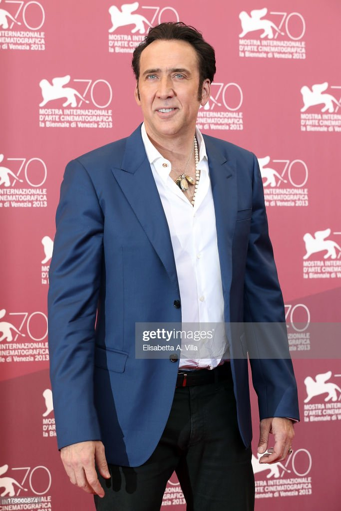 Actor <a gi-track='captionPersonalityLinkClicked' href=/galleries/search?phrase=Nicolas+Cage&family=editorial&specificpeople=196531 ng-click='$event.stopPropagation()'>Nicolas Cage</a> attends the 'Joe' Photocall during The 70th Venice International Film Festival at Palazzo Del Casino on August 30, 2013 in Venice, Italy.