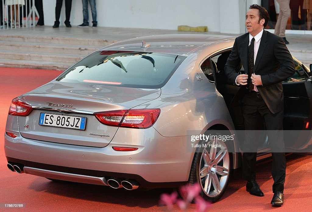 Actor <a gi-track='captionPersonalityLinkClicked' href=/galleries/search?phrase=Nicolas+Cage&family=editorial&specificpeople=196531 ng-click='$event.stopPropagation()'>Nicolas Cage</a> attends the 'Joe' Premiere during The 70th Venice International Film Festival at Palazzo Del Cinema on August 30, 2013 in Venice, Italy.