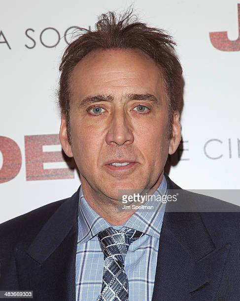 Actor Nicolas Cage attends the Lionsgate Roadside Attractions with The Cinema Society premiere of 'Joe' at Landmark's Sunshine Cinema on April 9 2014...