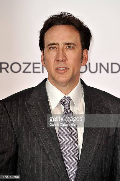 Actor Nicolas Cage attends the UK Premiere of 'The Frozen Ground' at Vue West End on July 17 2013 in London England