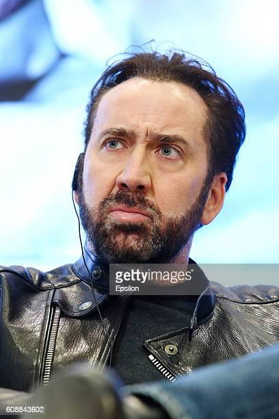Actor Nicolas Cage attends the 'USS Indianapolis Men of Courage' press conference on September 20 2016 in Moscow Russia