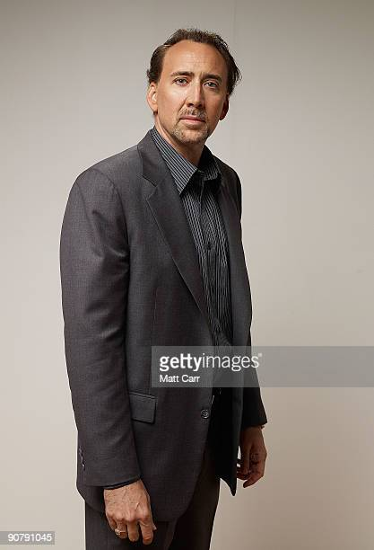 Actor Nicolas Cage from the film The Bad Lieutenant Port of Call New Orleans' poses for a portrait during the 2009 Toronto International Film...
