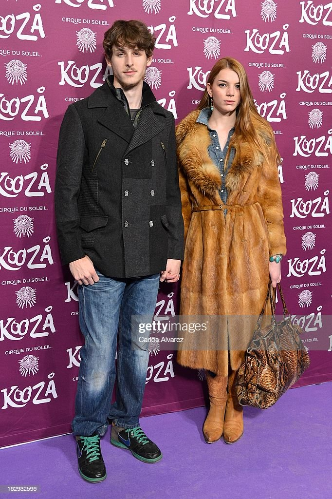 Actor Nicolas Coronado (L) and actress Cristina Duato attend 'Cirque Du Soleil' Kooza 2013 premiere on March 1, 2013 in Madrid, Spain.