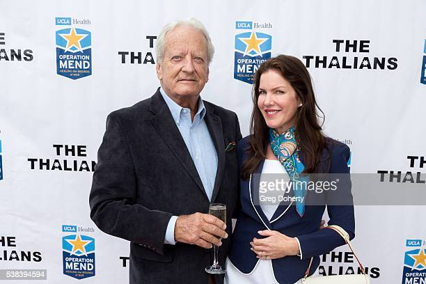 Actor Nicolas Coster and Actress Kira Reed Lorsch attend the The Thalians Presidents Club Anchors Away Brunch at the California Yacht Club on June 5...