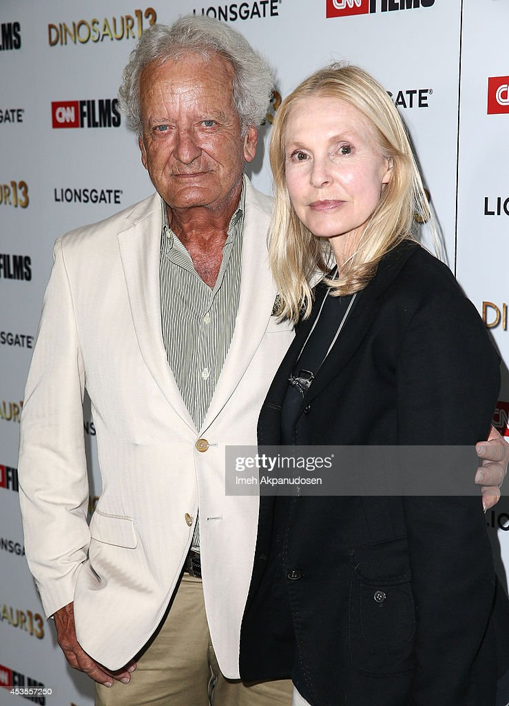 Actor Nicolas Coster (L) and actress <a gi-track='captionPersonalityLinkClicked' href=/galleries/search?phrase=Victoria+Tennant&family=editorial&specificpeople=228676 ng-click='$event.stopPropagation()'>Victoria Tennant</a> attend the premiere of Lionsgate and CNN Films' 'Dinosaur 13' at DGA Theater on August 12, 2014 in Los Angeles, California.