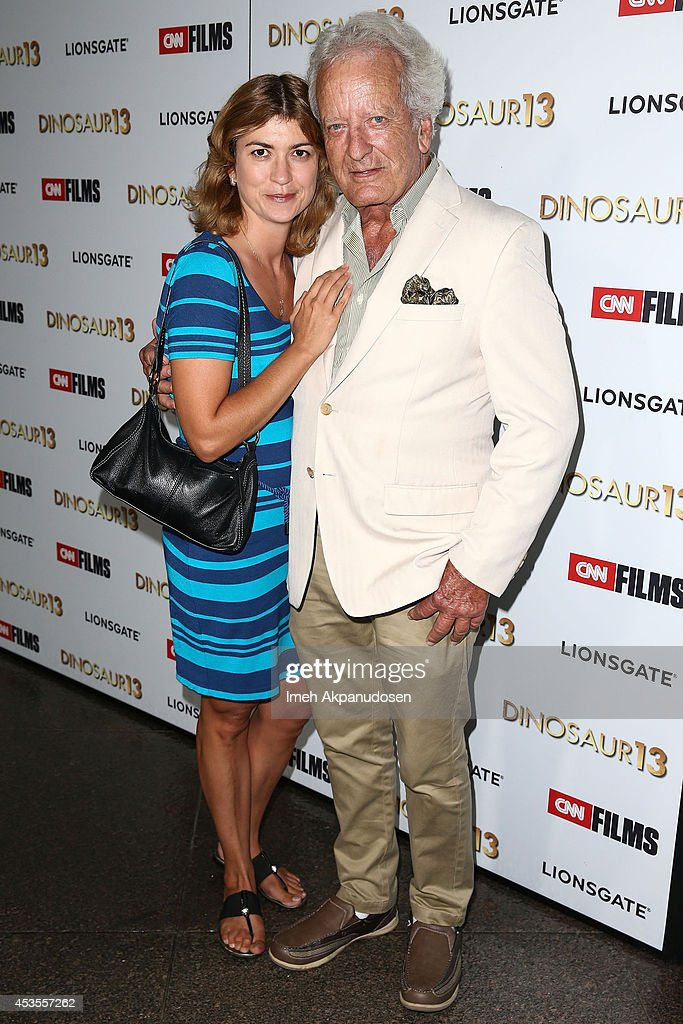 Actor Nicolas Coster (R) attends the premiere of Lionsgate and CNN Films' 'Dinosaur 13' at DGA Theater on August 12, 2014 in Los Angeles, California.
