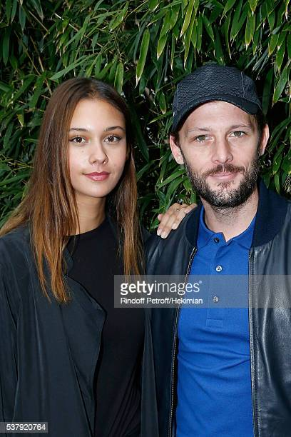 Actor Nicolas Duvauchelle and his companion Laura Isaaz attend Day Thirteen of the 2016 French Tennis Open at Roland Garros on June 3 2016 in Paris...