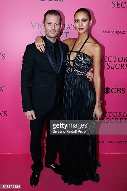 Actor Nicolas Duvauchelle and his wife Anouchka attend the 2016 Victoria's Secret Fashion Show Held at Grand Palais on November 30 2016 in Paris...