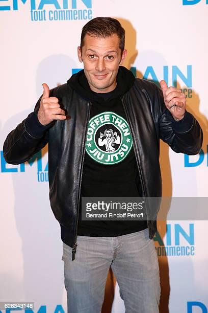 Actor Nicolas Duvauchelle attends the 'Demain Tout Commence' Paris Premiere at Cinema Le Grand Rex on November 28 2016 in Paris France
