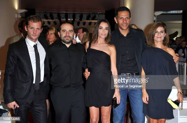 Actor Nicolas Duvauchelle Director Anthony Cordier actress Elodie Bouchez actor Roschdy Zem and actress Marina Fois attend the 'Happy Few' premiere...