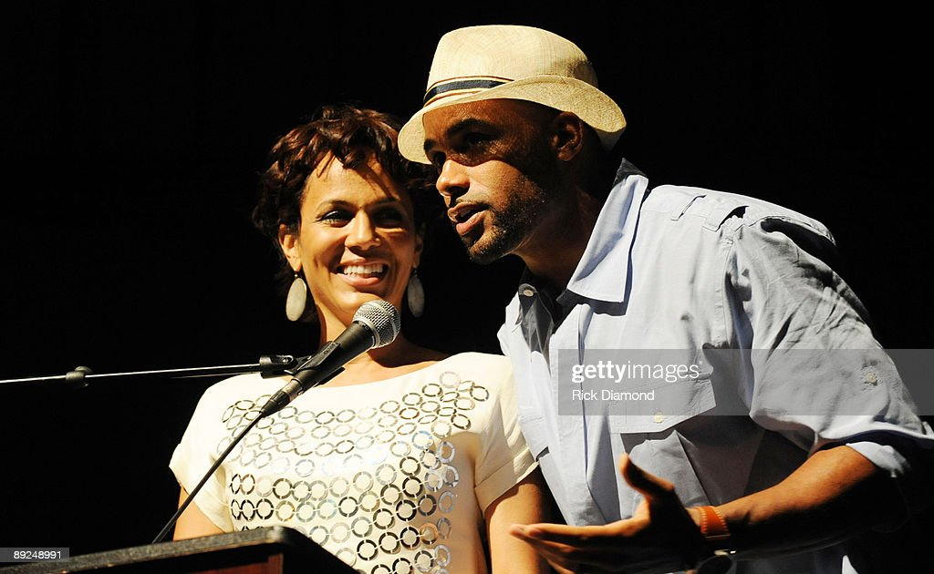Actor Nicole Ari Parker and Husband Actor Boris Kodjoe at the closing ceremony for Usher's Camp New Look at the Alliance Theater at the Woodruff Arts Center on July 24, 2009 in Atlanta, Georgia.